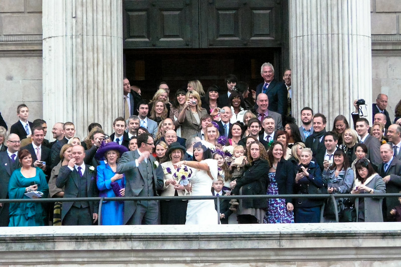 I even gate crashed a wedding at St Paul's!