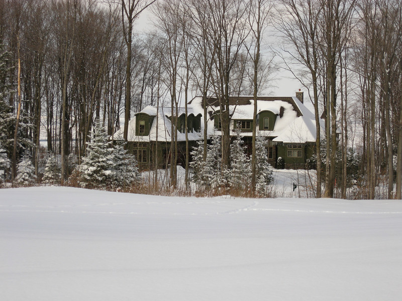 Wintertime view of our home from the golf course