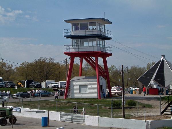 April 18, 2004:  Drag racing at Mid-America Raceway .  .  .