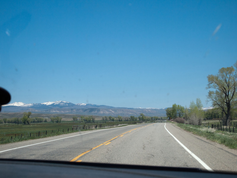 On US50 heading east towards the town of Gunnison.  I took over the driving again at this point and made it about halfway up the pass before I had to turn the driving back over to Roger.  The dropoffs and switchbacks made me very nervous.