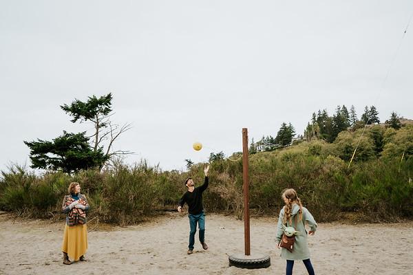 Jens + Becky + Elle at Richmond Beach, October 3rd