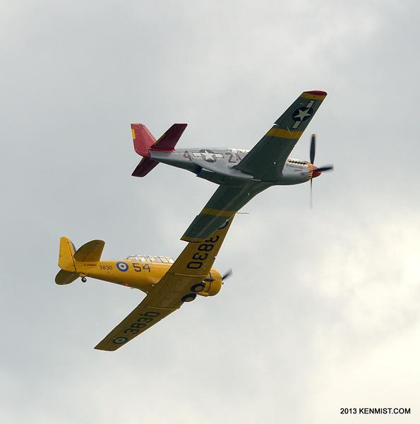 P-51C Mustang and Harvard