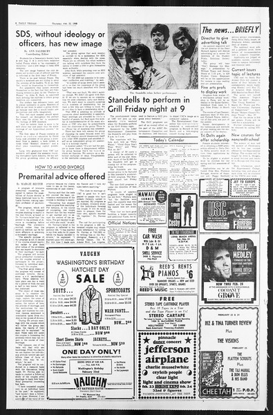 Daily Trojan, Vol. 59, No. 76, February 22, 1968