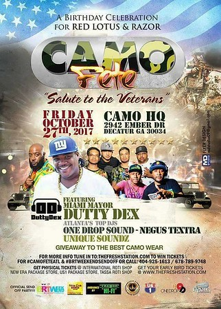 CAMO FETE 2017 RED LOTUS & RAZOR'S BIRTHDAY BASH