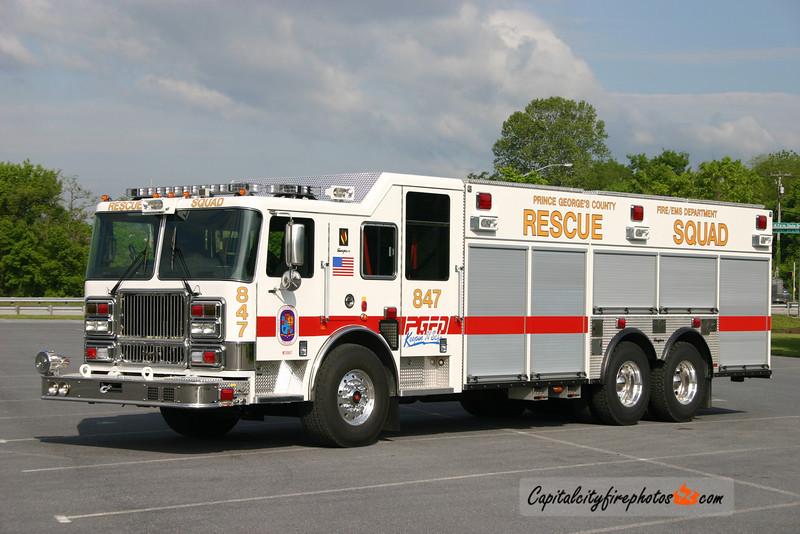 Fort Washington, MD (Allentown Road VFD) Rescue Squad 847: 2008 Seagrave Marauder II
