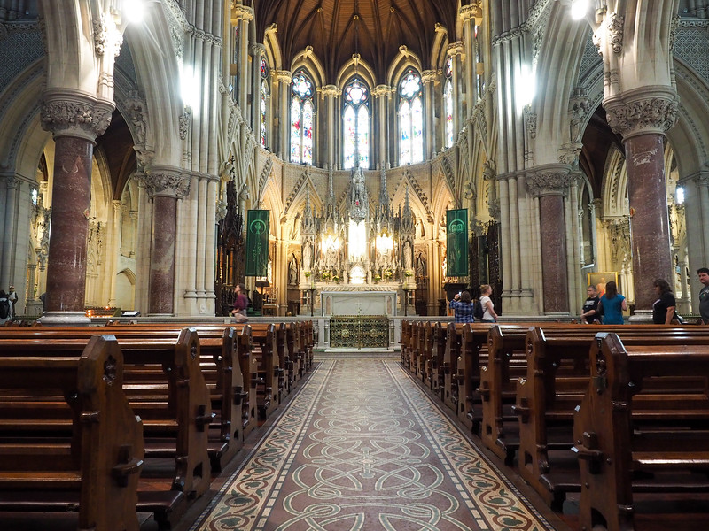 Inside St. Colman's Cathedral in Cobh