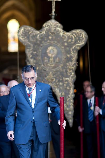 Brotherhood standard, Corpus Christi procession, Seville, Spain, 2009.