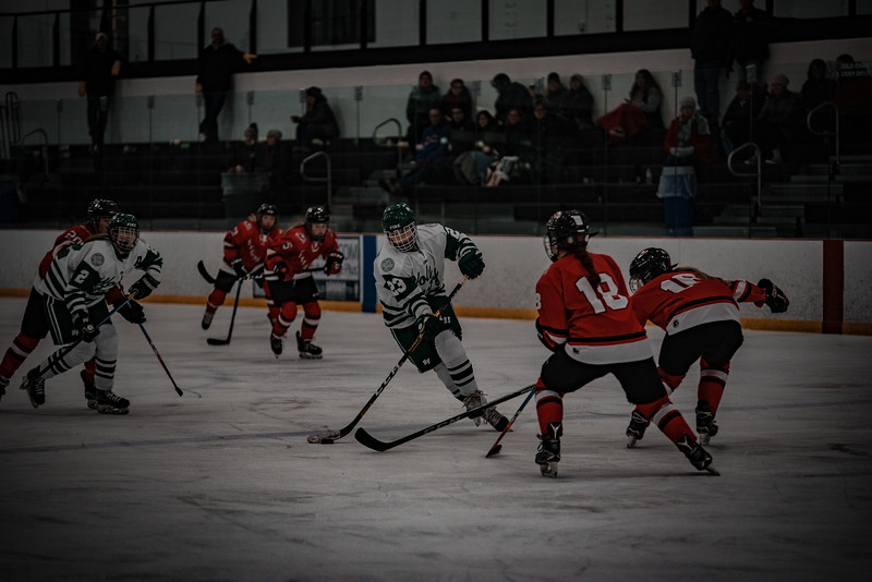 Holy Family Girls Varsity Hockey vs. Mound Westonka, 12/10/19: Justina Valentini '23 (23)