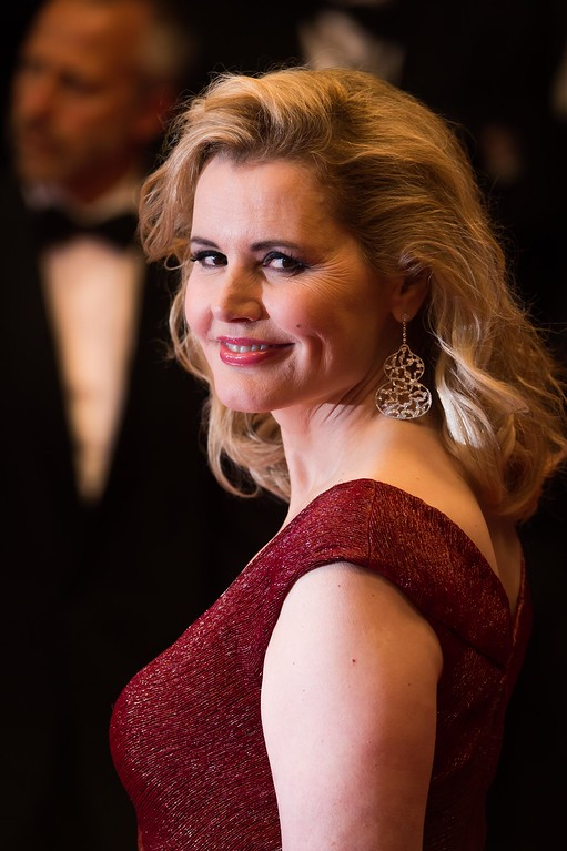 ". CANNES, FRANCE - MAY 15:  Actress Geena Davis attends ""The Nice Guys\"" premiere during the 69th annual Cannes Film Festival at the Palais des Festivals on May 15, 2016 in Cannes, France.  (Photo by Ian Gavan/Getty Images)"