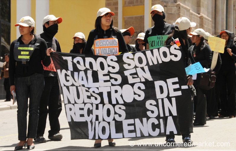 Students March Against Violence - Potosi, Bolivia