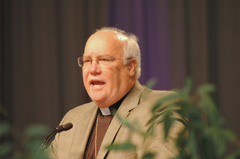 Minneapolis Area Synod Bishop Craig Johnson at plenary session one.