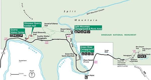 Dinosaur National Monument (Cub Creek & Visitor Center Areas)