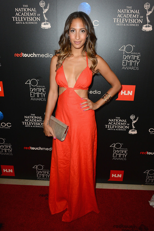 . BEVERLY HILLS, CA - JUNE 16: Actress Christel Khalil attends The 40th Annual Daytime Emmy Awards at The Beverly Hilton Hotel on June 16, 2013 in Beverly Hills, California.  (Photo by Mark Davis/Getty Images)