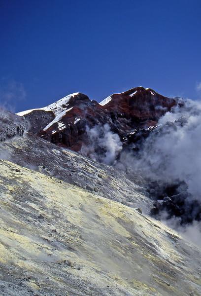 Sulfur Deposits in the Avachinsky Volcano - Kamčatka, Russian Federation - Summer 1993