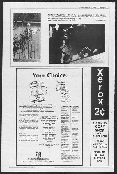 Daily Trojan, Vol. 75, No. 30, October 31, 1978