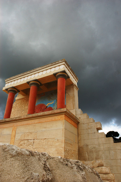 Storm clouds at Knossos