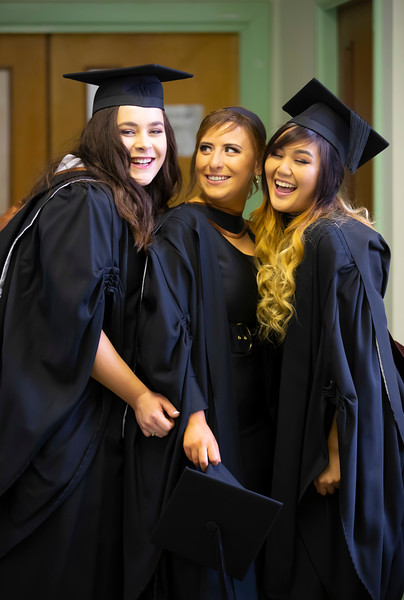 30/10/2019. Waterford Institute of Technology (WIT) Conferring Ceremonies are Mikaela Dijkhuizen Portlaoise, Shauna Brenna Portlaoise and Chelsea Bernasor Kildare. Picture: Patrick Browne
