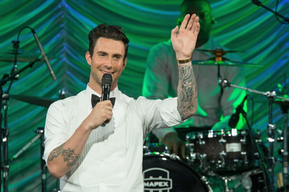 . BEVERLY HILLS, CA - MAY 14:  Recording artist Adam Levine onstage during BMI\'s 61st Annual Pop Awards at the Beverly Wilshire Four Seasons Hotel on May 14, 2013 in Beverly Hills, California.  (Photo by Paul A. Hebert/Getty Images)