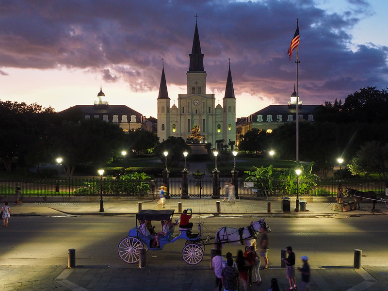 Jackson Square sunset in New Orleans