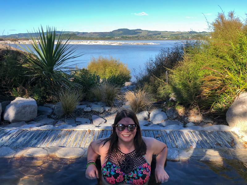 Amanda at Polynesian Spa in Rotorua
