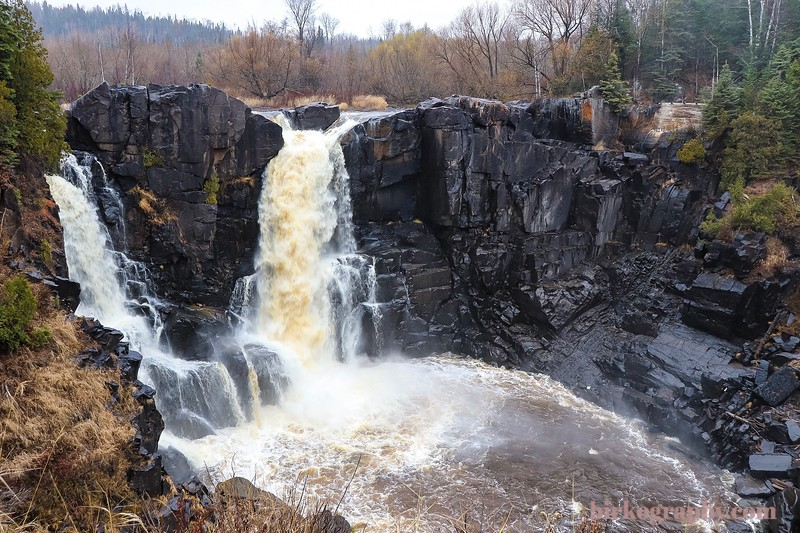 High falls on the Pidgeon River in Grand Portage State Park, MN