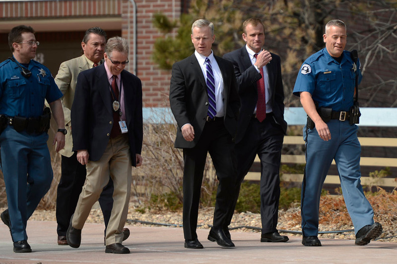 . District Attorney George Brauchler at the Arapahoe County Justice Center during a hearing in the case of Aurora theater shooting suspect James Holmes April 01, 2013 Centennial, Colorado. (Photo By Joe Amon/The Denver Post)