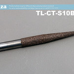 SKU: TL-CT-S10B3-80, 10mm Tapered Ball Nose (3mm) Marble Stone Router Bit with 80mm Coarse Grit, Full Length ⩾120mm