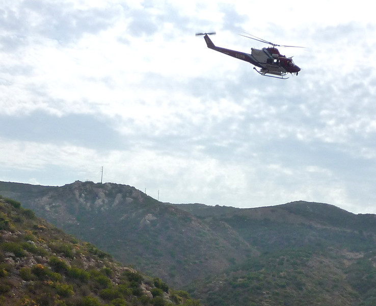 2010 A SDFD helicopter arrives in 20min Sycamore Cyn