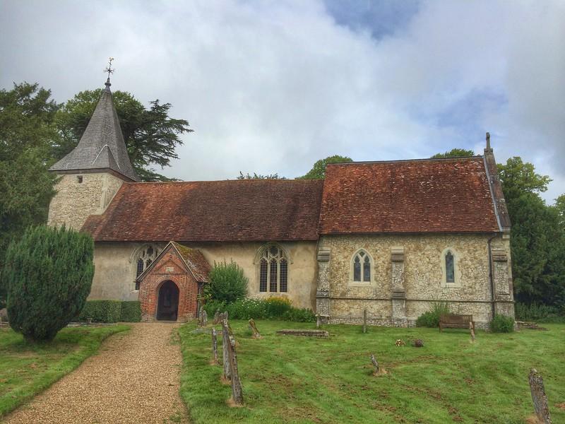 Church at Upper Faringdon, Hampshire.
