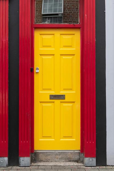 Entrance of an Irish apartment, Kinsale, County Cork, Ireland