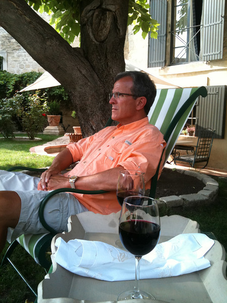 Relaxing at the B & B in Uzes