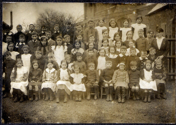 Old photos of Spaldwick School and Playgroup
