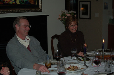 2009, February Corey's Parents over for Dinner