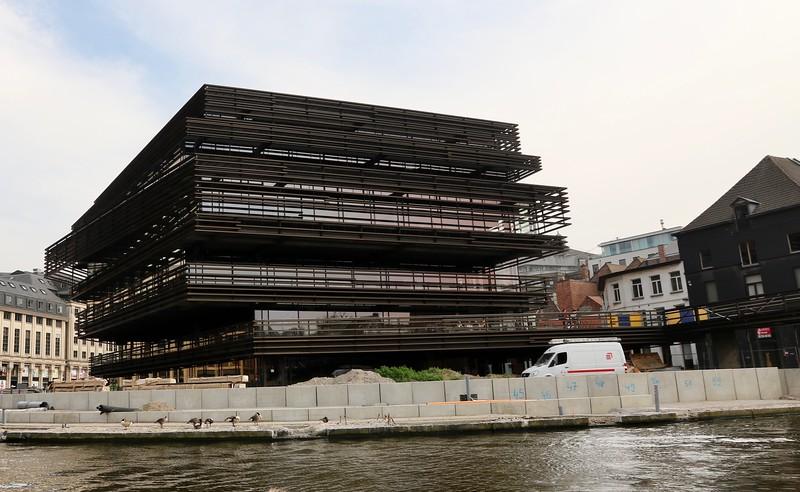 The new ultra modern library, De Krook, still under construction. - Ghent, Belgium