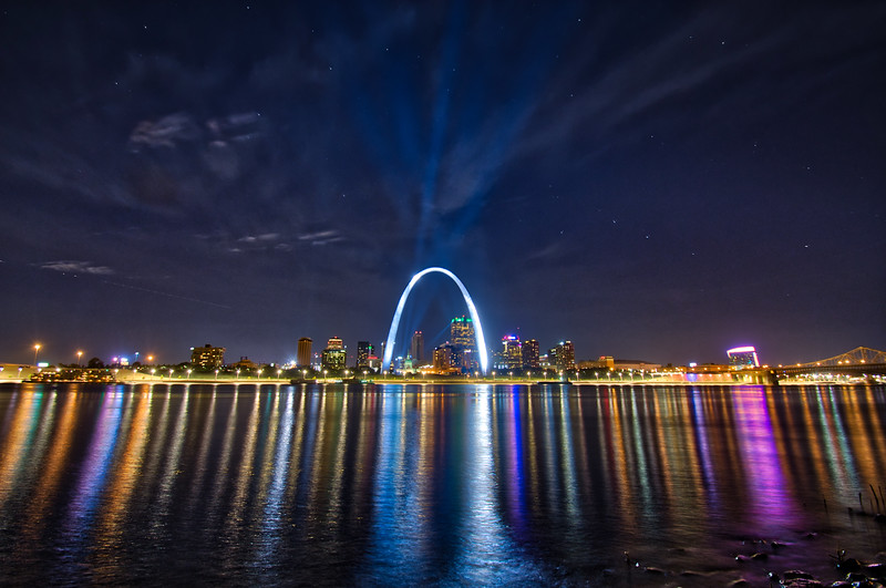 Downtown St. Louis and the Gateway Arch