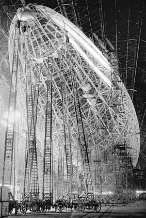 USS Macon Dirigible under construction 1934.