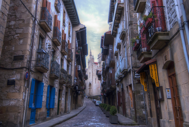 A side street in San Sebastian, Basque Country, Spain