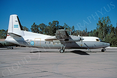 Argentinian  Air Force Fokker F27 Friendship Transport Airplane Pictures for Sale
