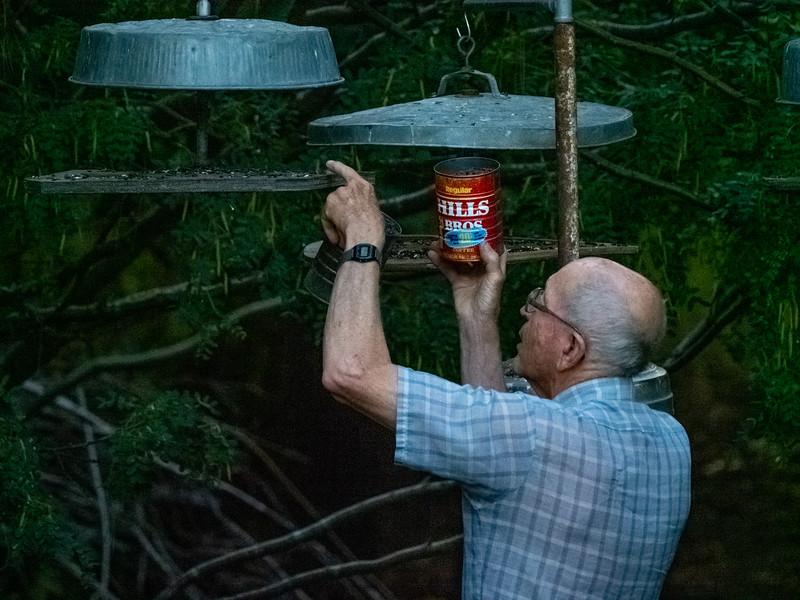 Bob Feeding Birds