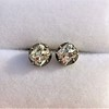 1.73ctw Georgian Peruzzi Cut Diamond Collet Stud Earrings 21