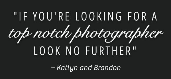 An incredible quote from our amazing clients Kaytee & Brandon. We LOVED being a part of their special day at Musket Ridge Golf Club
