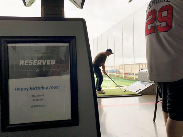 Alex's Birthday at Top Golf 2018