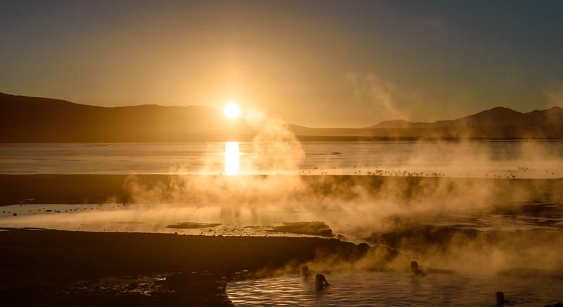 Hot springs, Salar de Uyuni
