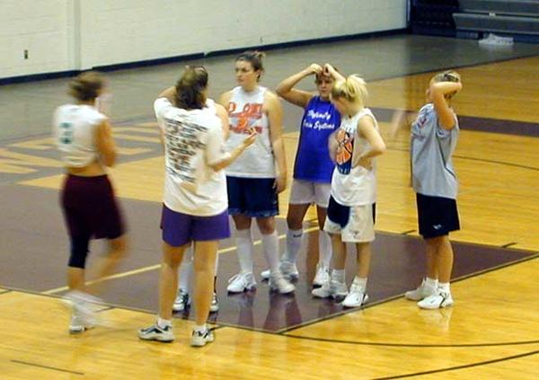 SNHS Girls Basketball Practice 2001