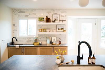 8464 Parkridge Kitchen and Fireplace