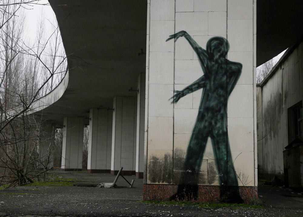 . A  view of an underpass in the deserted town of Pripyat near the closed Chernobyl nuclear power plant  Ukraine Tuesday, Nov. 27, 2012. Workers on Tuesday  raised the first section of a colossal arch-shaped structure that is eventually to cover the exploded reactor at the Chernobyl nuclear power station. Project officials on Tuesday hailed the raising as a significant step in a complex effort to liquidate the consequences of the world\'s worst nuclear accident, in 1986. (AP Photo/Efrem Lukatsky)