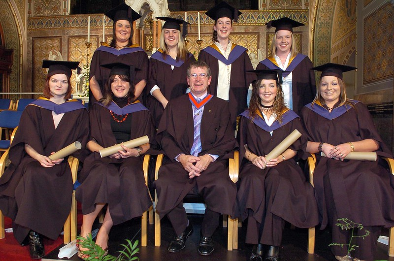 Provision 261006 Failte Ireland National Certificate in Hospitality Skills graduates of WIT pictured with their course leader Ray Cullen after their graduation ceremony on Thursday 26th October, 2006.  PIC Bernie Keating/Provision