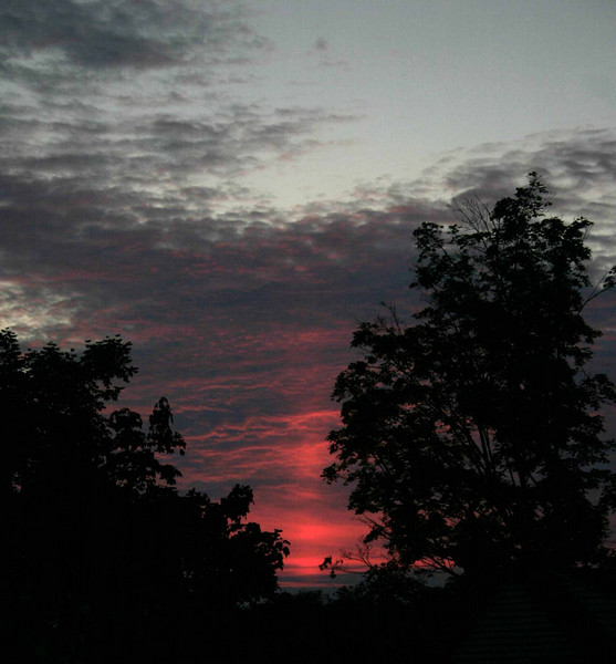 Sun pilar taken July 23, 2007 from Upper St Clair, PA . Dan McKeel