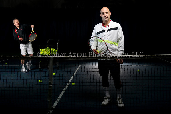 Gilad Bloom and John McEnroe portrait
