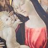 La Vierge et l'Enfant entre saint Jean-Baptiste et saint Antoine. Painting by Neroccio di Bartoloméo de'Landi (approx. from 1480 to 1492). Louvre Museum, Paris, France